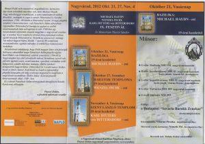 2012. október 21,27 Nov.4 Fesztivál műsor 2